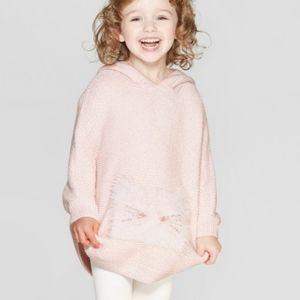 Girls pink Knit sweater Poncho